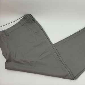 LK Life Khaki Relaxed Fit Pants Flat Front Chino